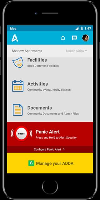 ADDA App - Panic Alert
